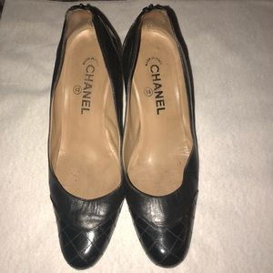 Chanel Patent Leather Quilted Shoes